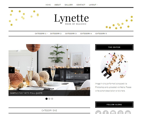 Lynette boutique home decor wordpress blog theme for Home decor blogs