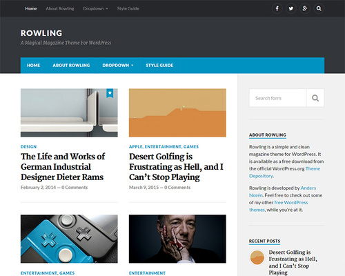 Free Magazine Theme for WordPress