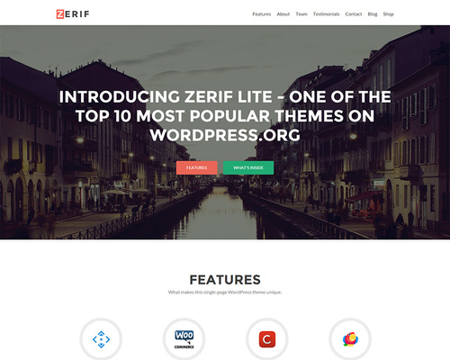 Free Parallax WordPress Theme for Agencies