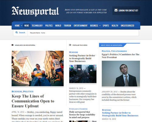 Responsive WordPress News Theme