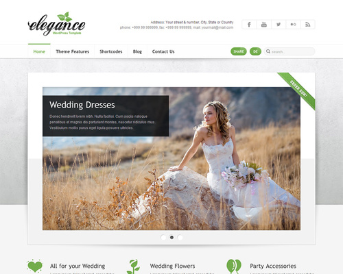 WordPress Theme for Wedding Photographers