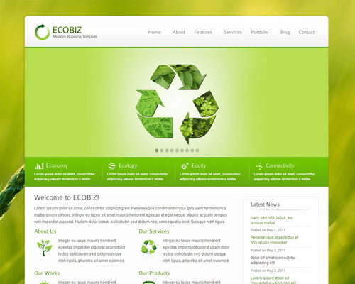 Eco-Friendly WordPress Theme