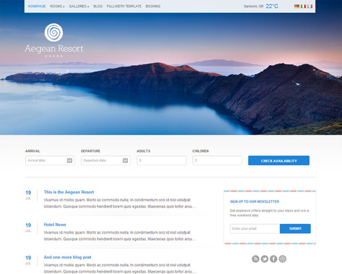Resort WordPress Theme