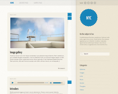 Tumblr Like WordPress Theme