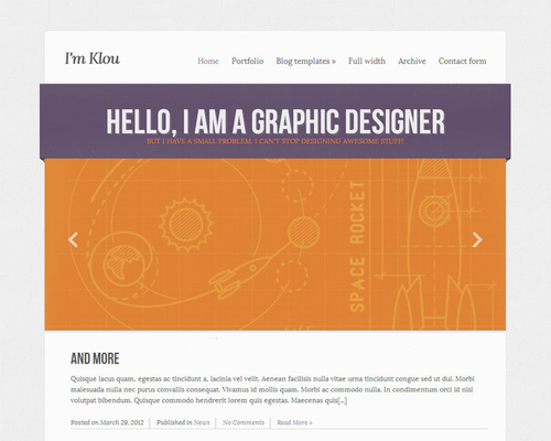 Graphic Designer WordPress Theme