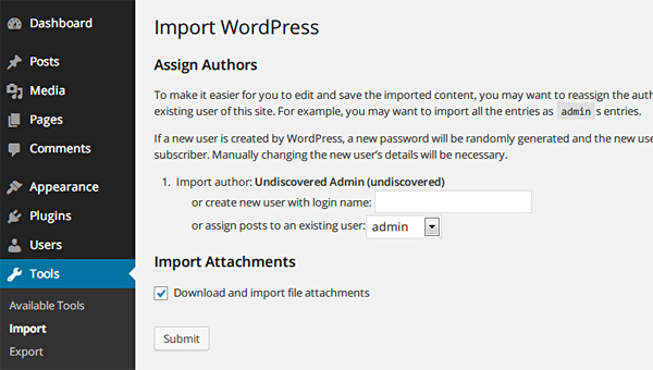Assign Authors and Download Attachments