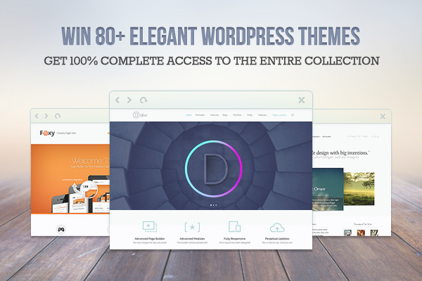 Elegant Themes Giveaway Intro