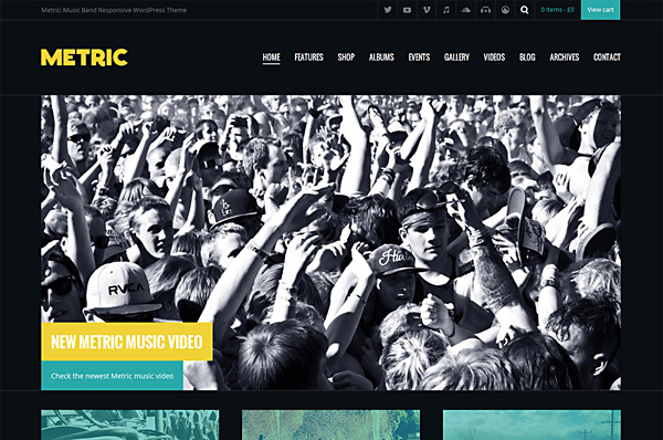 Festival WordPress Theme – Metric