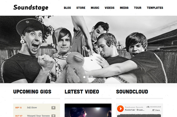 WordPress Theme for Bands – Soundstage