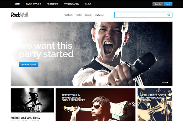 Music Theme for WordPress – RockWall