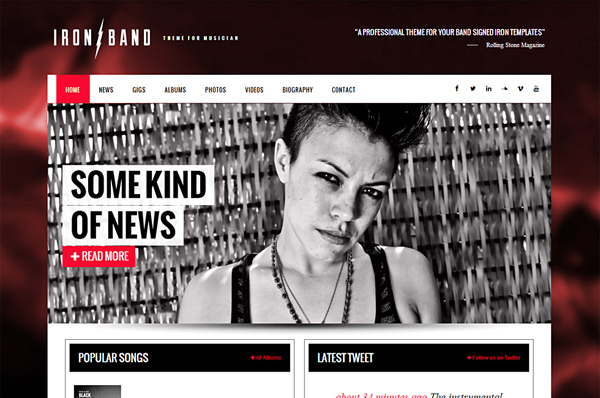 WordPress Theme for Music – IronBand