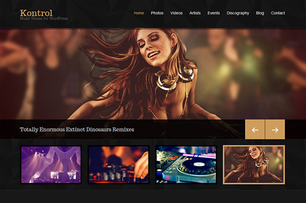 Nightclub WordPress Theme – Kontrol