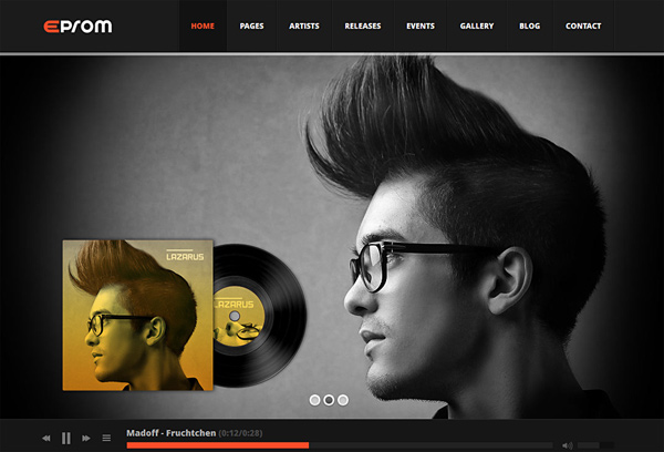 WordPress DJ Template – Eprom
