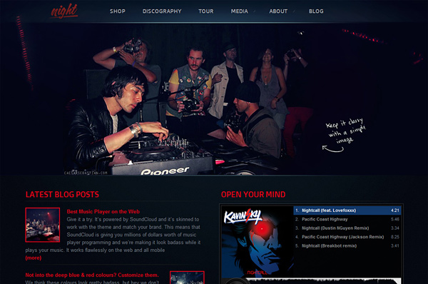 Nightlife WordPress Theme – Night Music