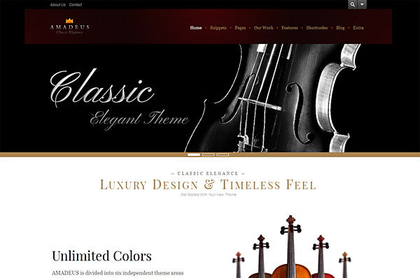 Classical Music WordPress Theme – Amadeus