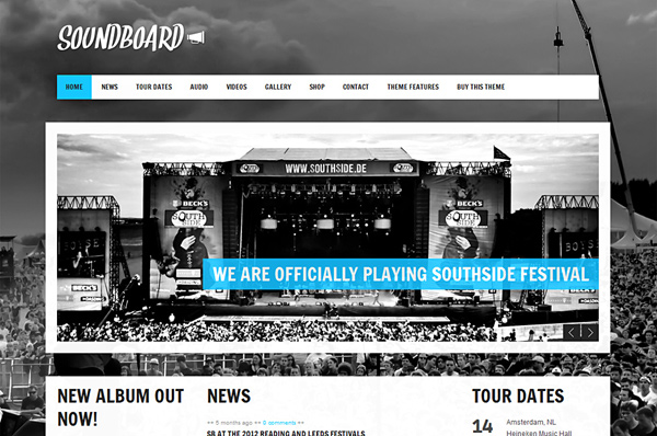Music Festival WordPress Theme – Soundboard
